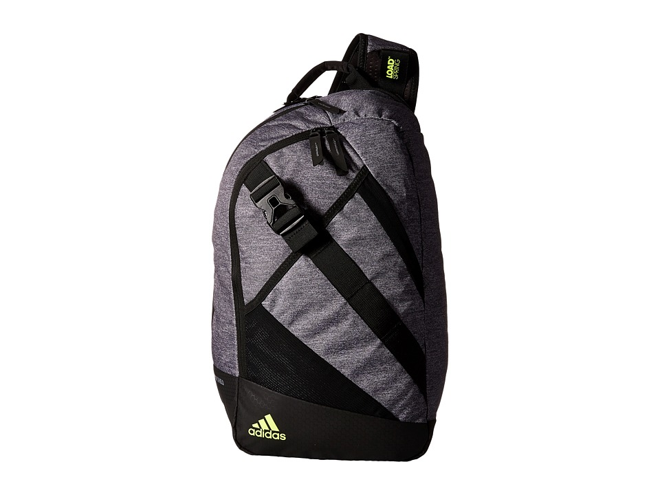 adidas - Citywide Sling (Heather Granit/Black/Solar Yellow) Backpack Bags