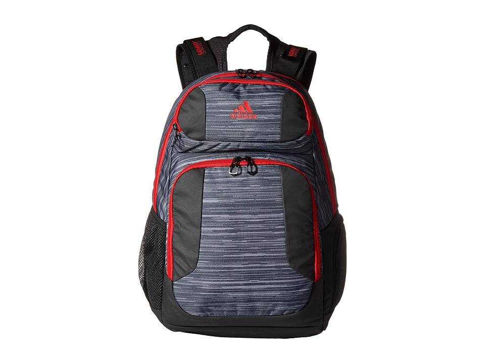 adidas - Strength Backpack (Space Dye Deepest Space/Scarlet/Black) Backpack Bags