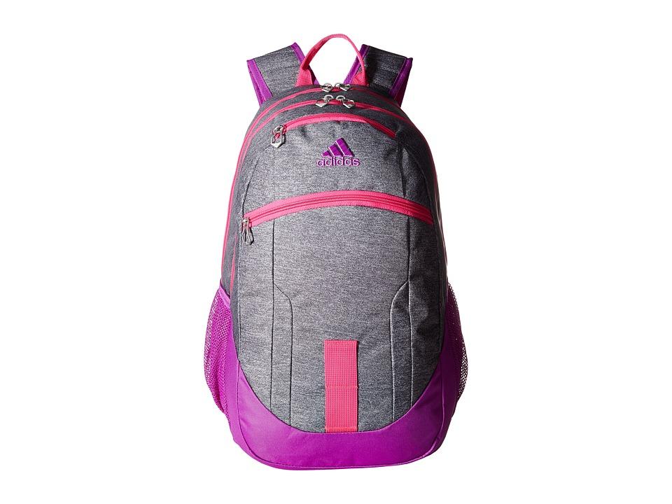 adidas - Foundation II Backpack (Heather Granit/Shock Purple/Shock Pink/Deepest Space) Backpack Bags