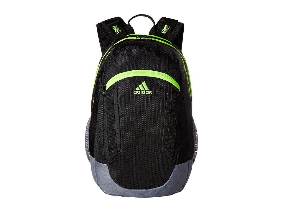 adidas - Excel II Backpack (Black/Grey/Solar Yellow/Deepest Space) Backpack Bags
