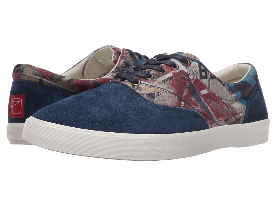 BucketFeet Four Walls Navy Mens Lace up casual Shoes