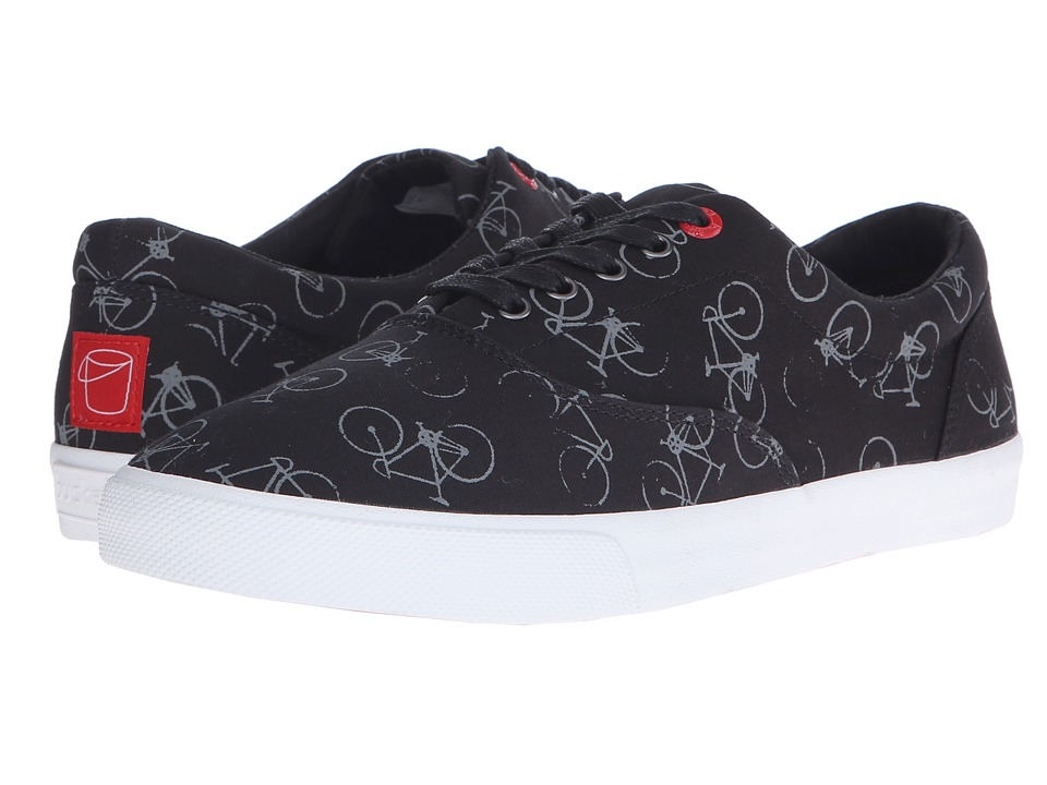 BucketFeet Night Ride Black Mens Lace up casual Shoes