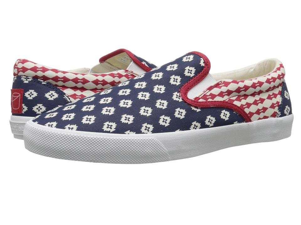 BucketFeet Republic Navy Mens Slip on Shoes