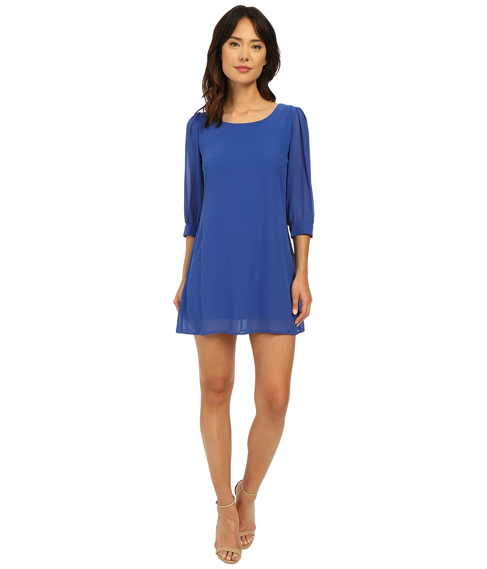 Brigitte Bailey Cesena Lattice Shift Dress Cobalt Womens Dress