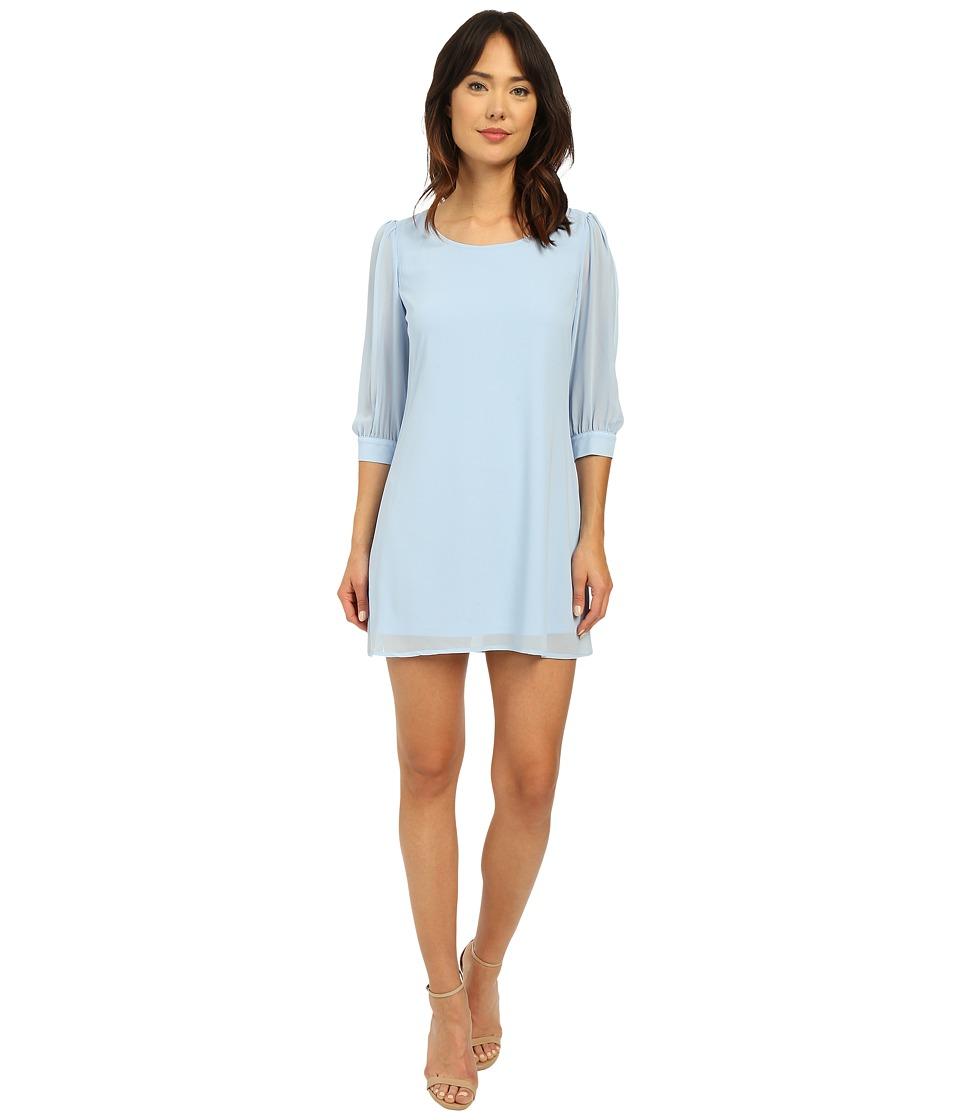 Brigitte Bailey Cesena Lattice Shift Dress Powder Blue Womens Dress