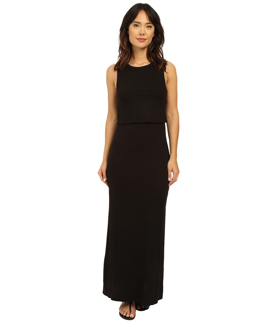 Brigitte Bailey Piedmont Flouncy Maxi Dress Black Womens Dress