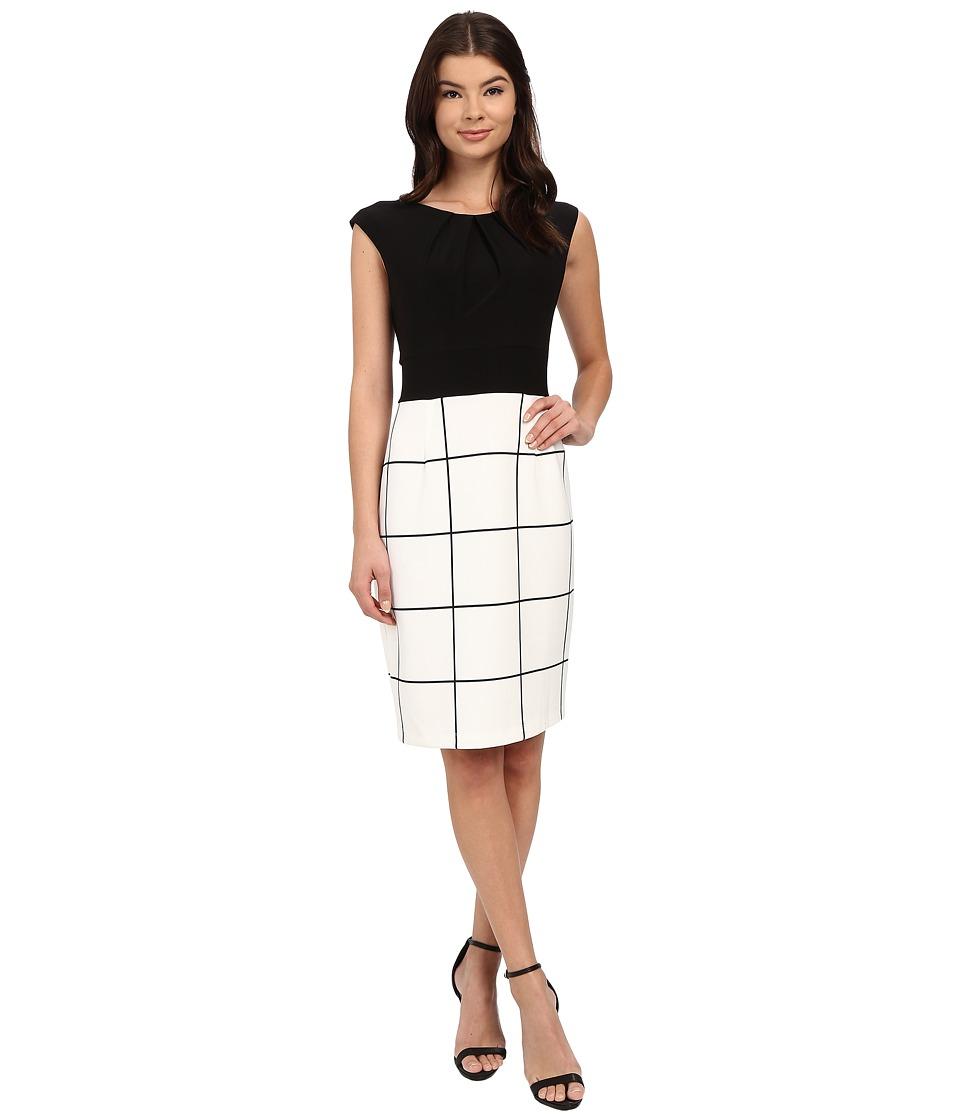 Christin Michaels Amalia Dress Black/White Womens Dress