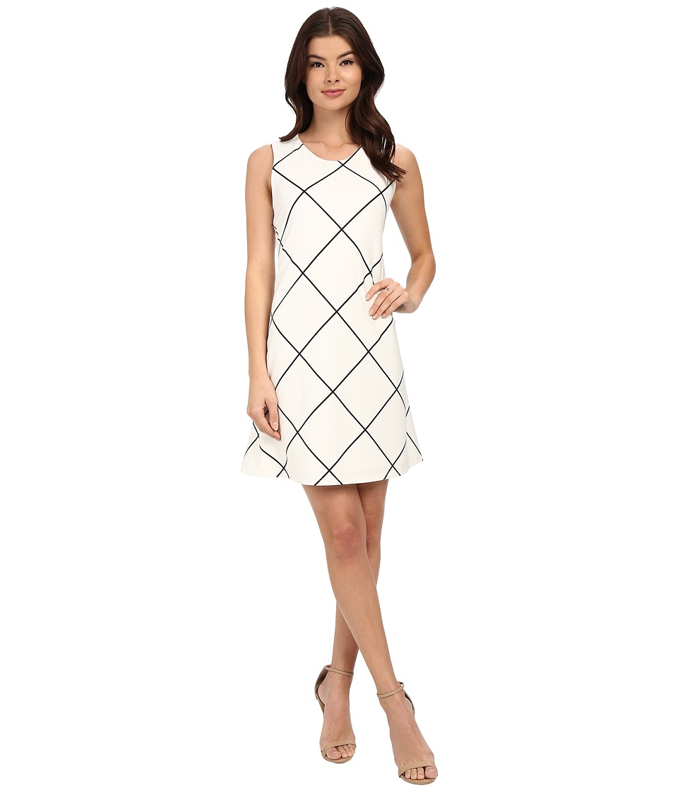 Christin Michaels Anette Sleeveless Dress Ivory/Black Womens Dress