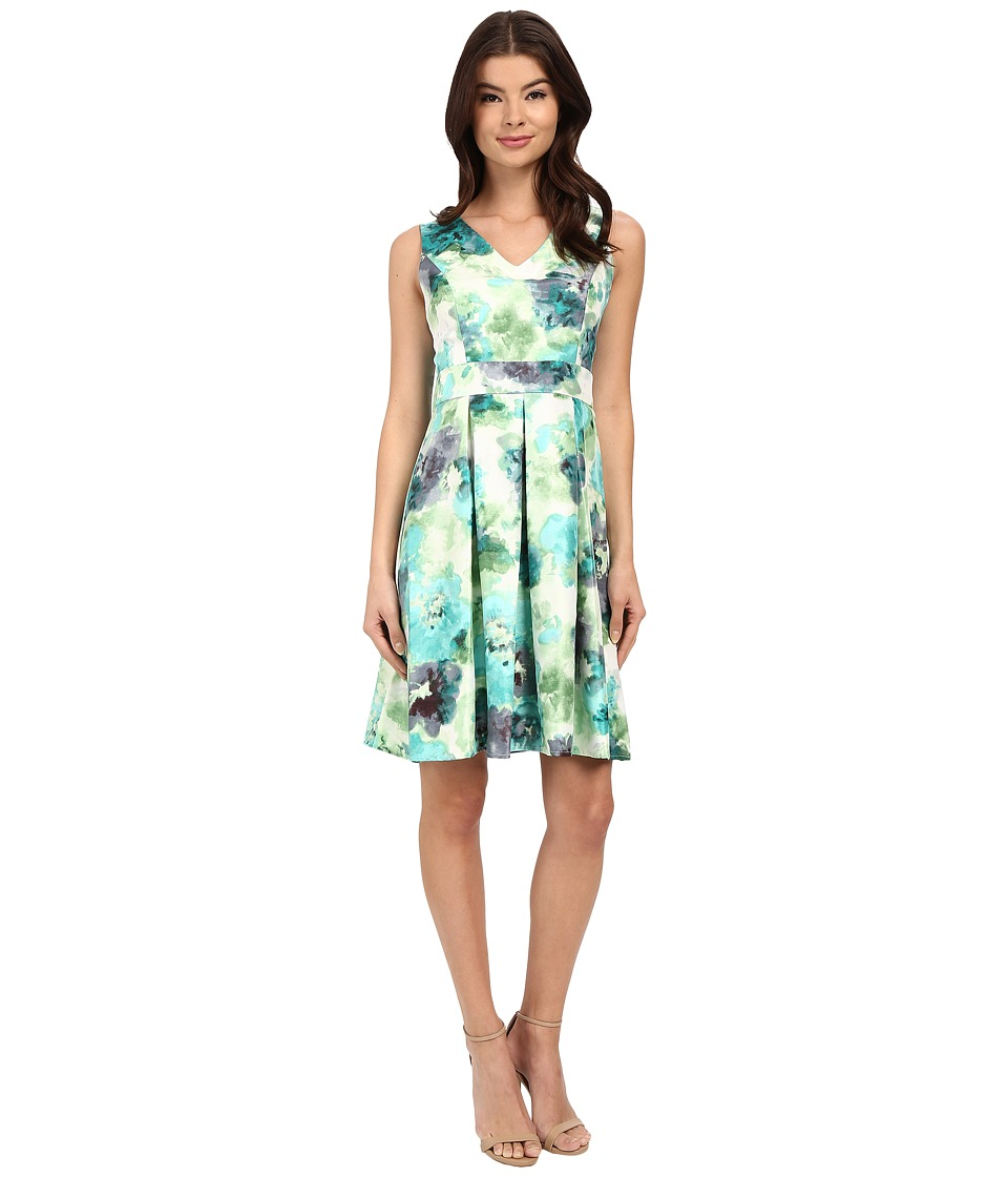 Christin Michaels Abellona Dress Teal Combo Womens Dress