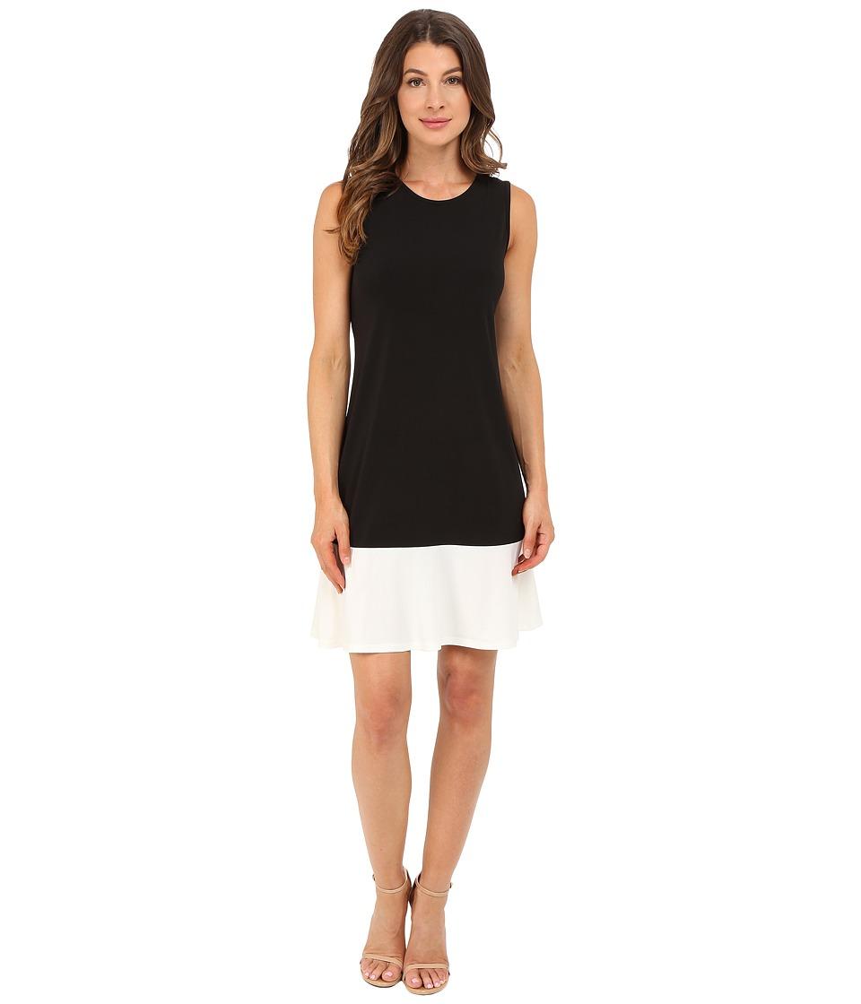 Christin Michaels Asta Dress Black/White Womens Dress