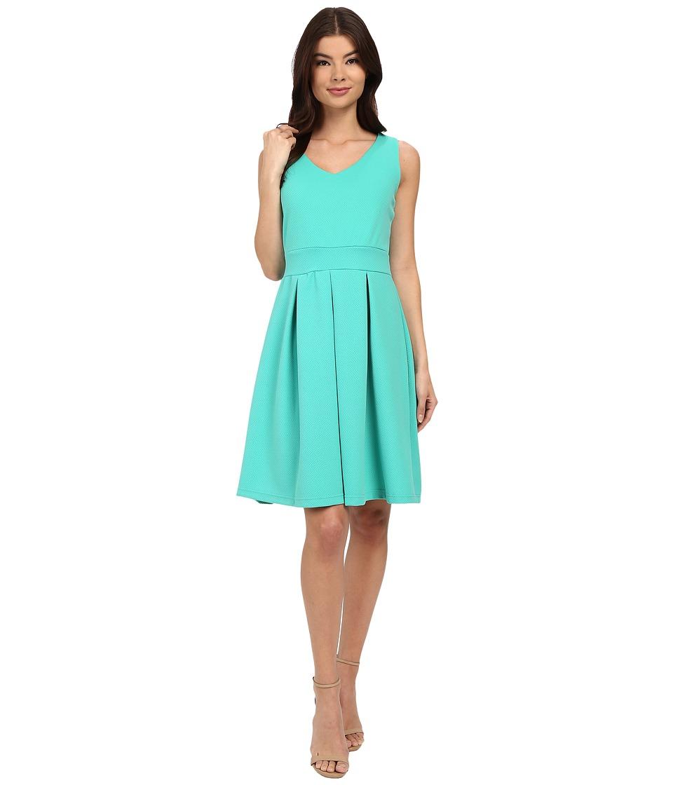 Christin Michaels Aksel Dress Teal Womens Dress