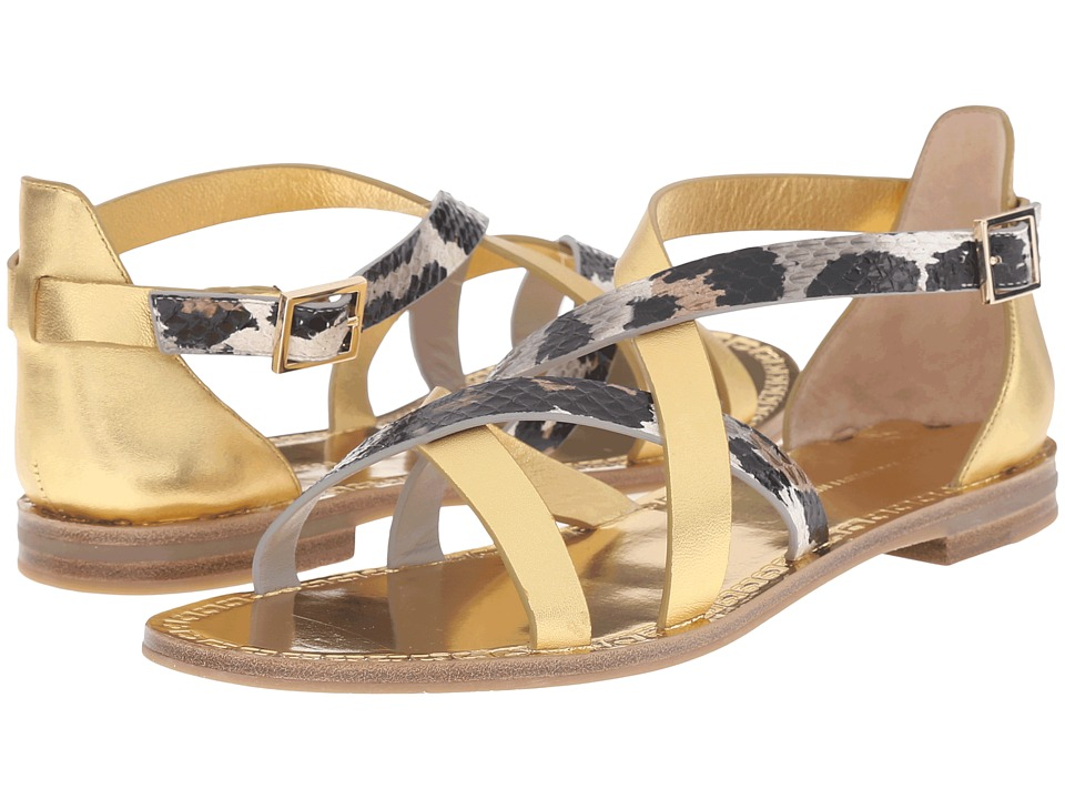 Diane von Furstenberg - Cannes (Gold Metallic/Snow Cheetah) Women