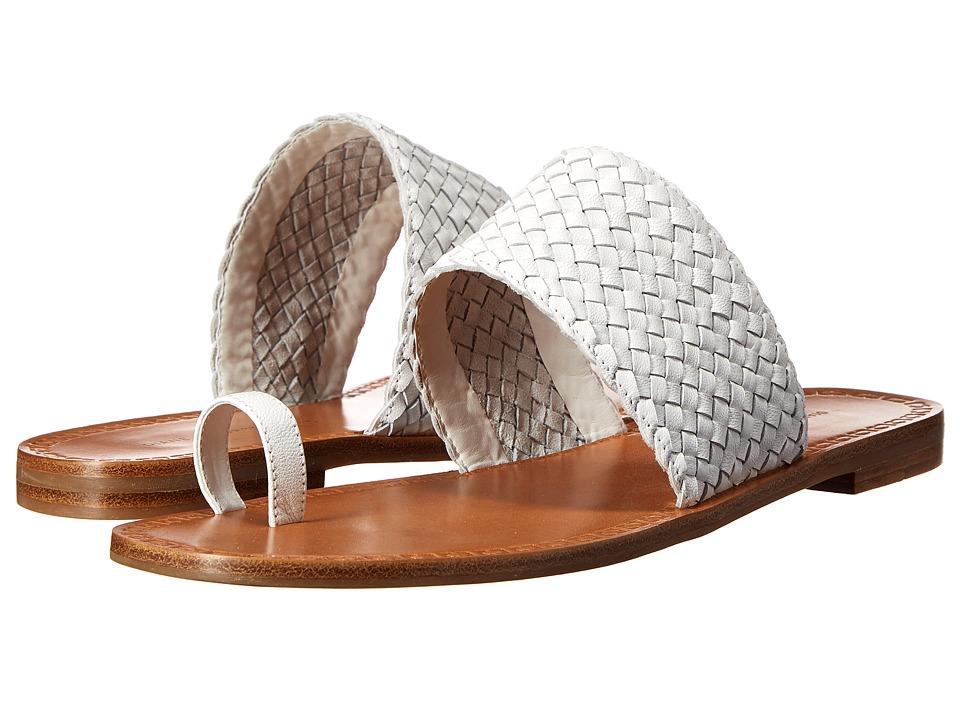 Diane von Furstenberg Chasia White Goat Leather Womens Shoes