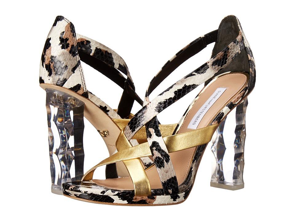 Diane von Furstenberg - Ibiza (Gold Metallic/Snow Cheetah) Women