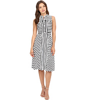 Christin Michaels - Nord Pinstripe Shirtdress