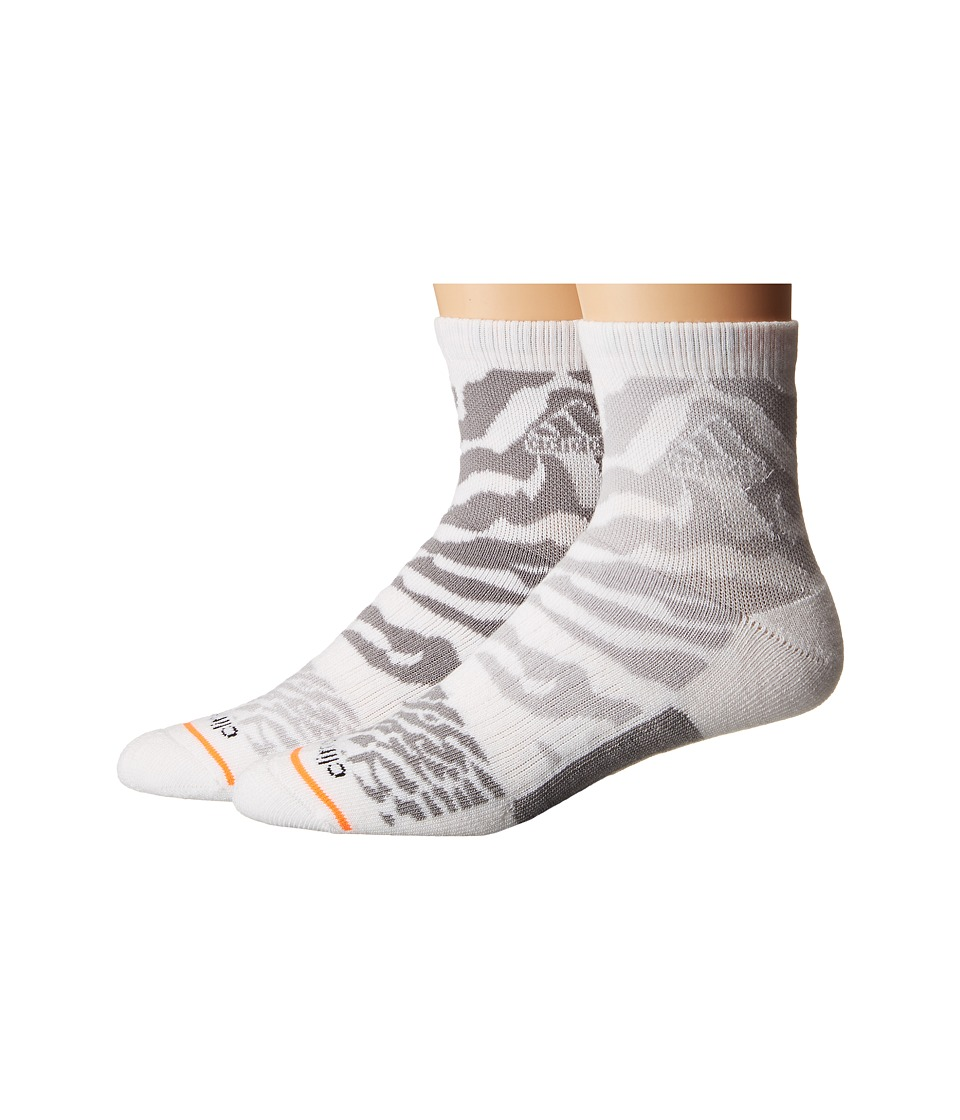 adidas - Creator 2-Pack Quarter (White/Light Grey Heather Solid Grey/Light Onix/Solar Orange) Men
