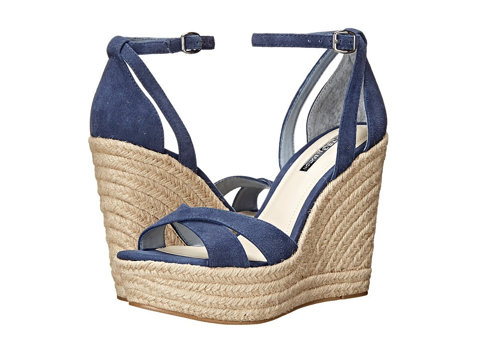 BCBGeneration Holly Medium Blue Suede Womens Wedge Shoes
