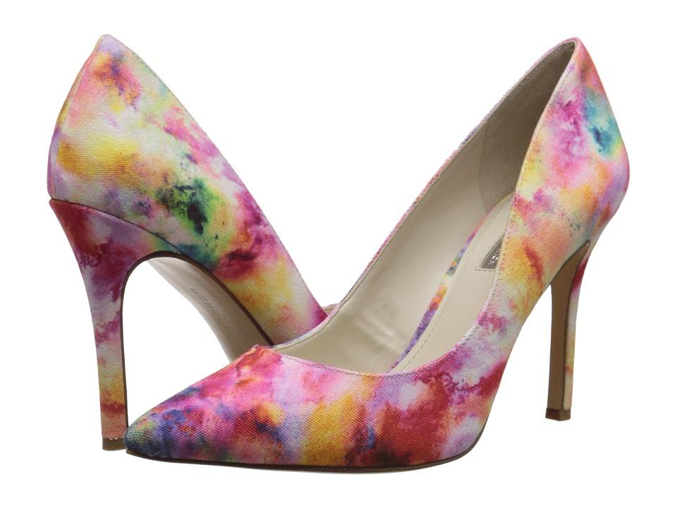 BCBGeneration Treasure Water Color Canvas High Heels