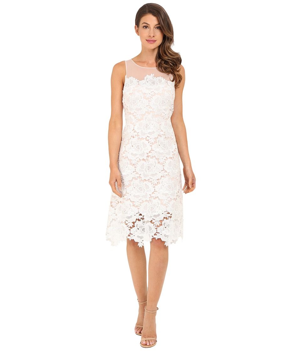 rsvp Alsace Lace Dress White Dust Pink Womens Dress