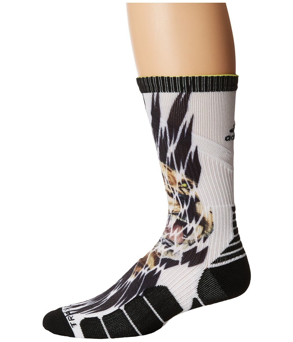 adidas - Uncaged Crew (Cheetah Shockweb) Crew Cut Socks Shoes