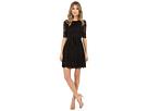 3/4 Novelity Lace Dress with Self Sash