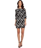 Jessica Simpson - 3/4 Ity Printed Dress with Cut Out Details