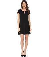 Jessica Simpson - Short Sleeve Shift Dress with Metal Neck Detail