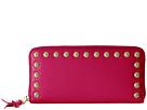 Rebecca Minkoff Ava Zip Wallet with Studs (Bright Fuchsia)