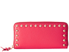Rebecca Minkoff Ava Zip Wallet with Studs (Cherry)