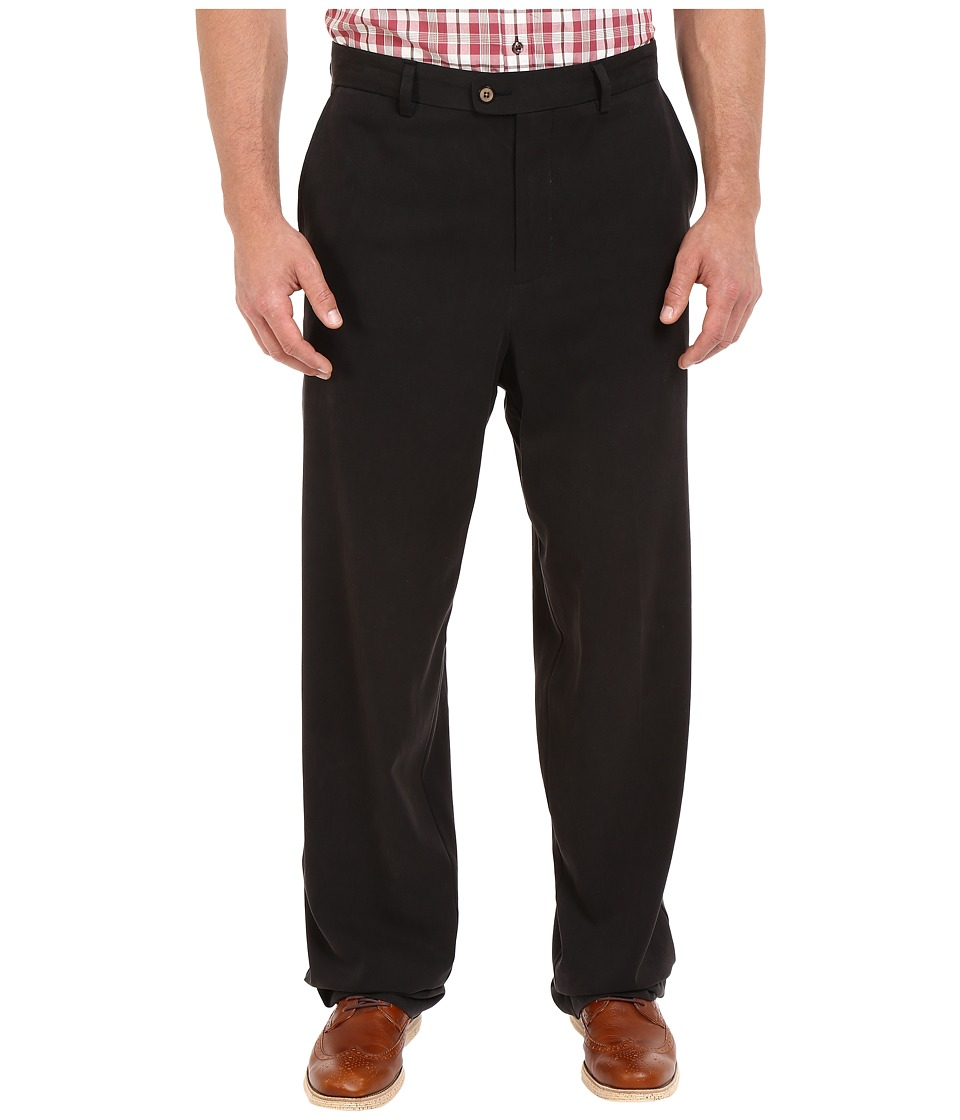 Tommy Bahama Big amp Tall Big Tall Coastal Twill Flat Front Pant Black Mens Casual Pants