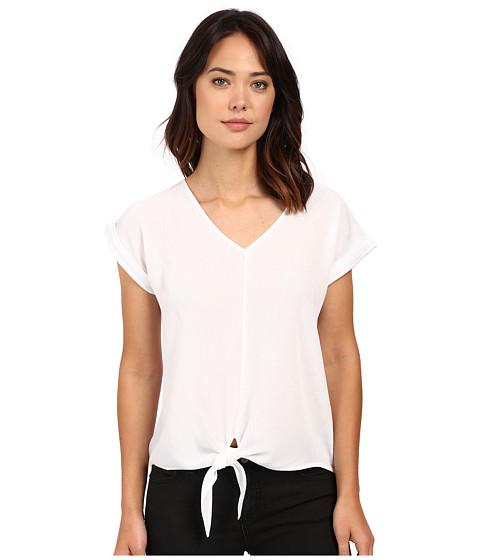 Splendid Rayon Crinkle Gauze Tie Front Shirt