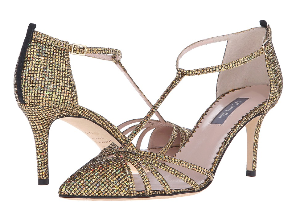 SJP by Sarah Jessica Parker Carrie 70 Gold Scintillate Glitter Womens Shoes