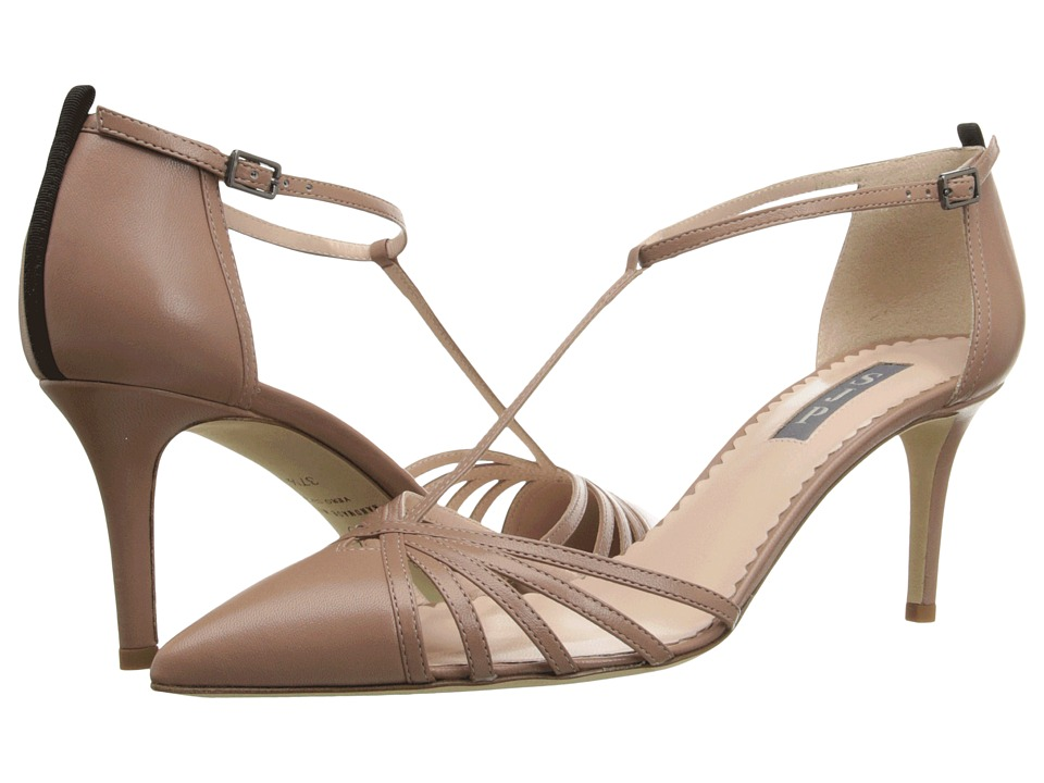 SJP by Sarah Jessica Parker Carrie 70 Sneak Taupe Leather Womens Shoes