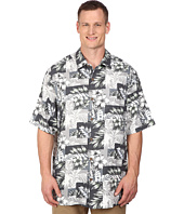Tommy Bahama Big & Tall - Big & Tall Plumeria Patchwork Tortola Silk Camp Shirt