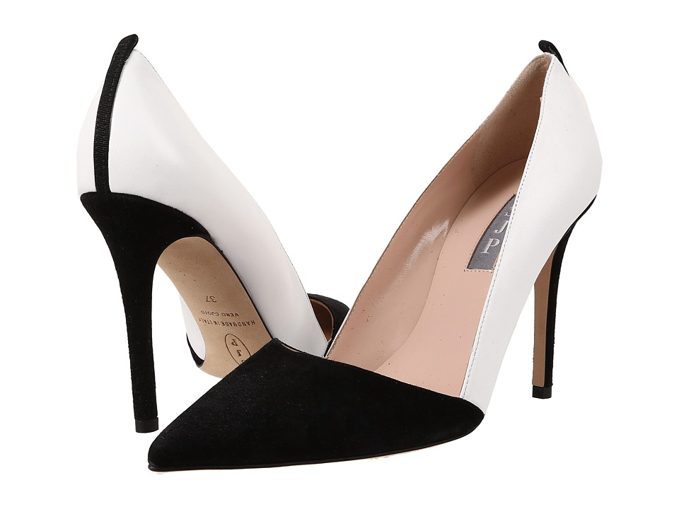 SJP by Sarah Jessica Parker Rampling (Black Suede/Milk Leather) Women