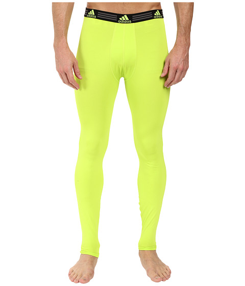 adidas Climalite Single Base Layer Pants - Semi Solar Slime