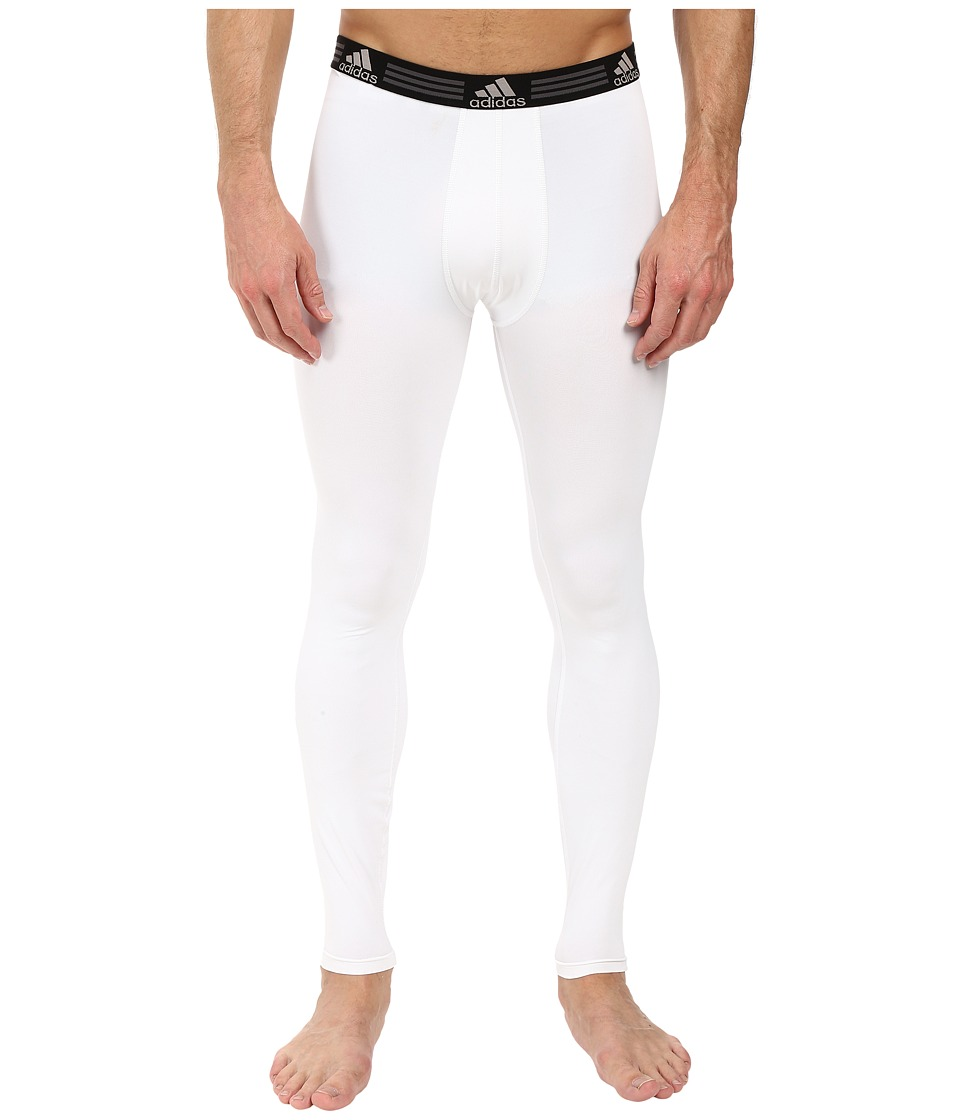 adidas Climalite Single Base Layer Pants (White) Men