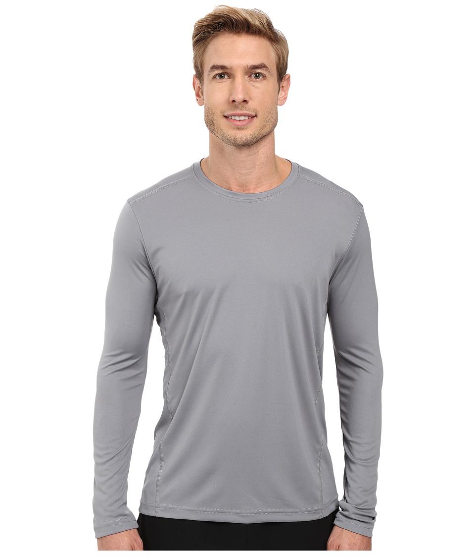 Adidas Climalite Single Long Sleeve Crew (Grey) Men's Und...