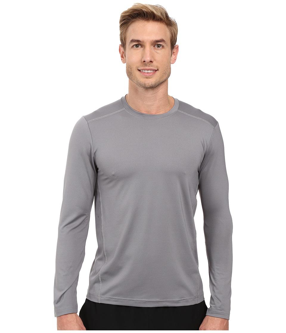 Adidas Climacool Single Long Sleeve Crew (Grey) Men's Und...