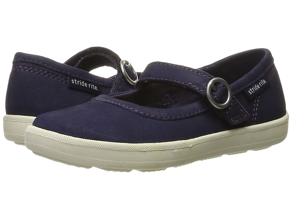 Stride Rite Simone (Toddler/Little Kid) (Navy Leather) Girl's Shoes