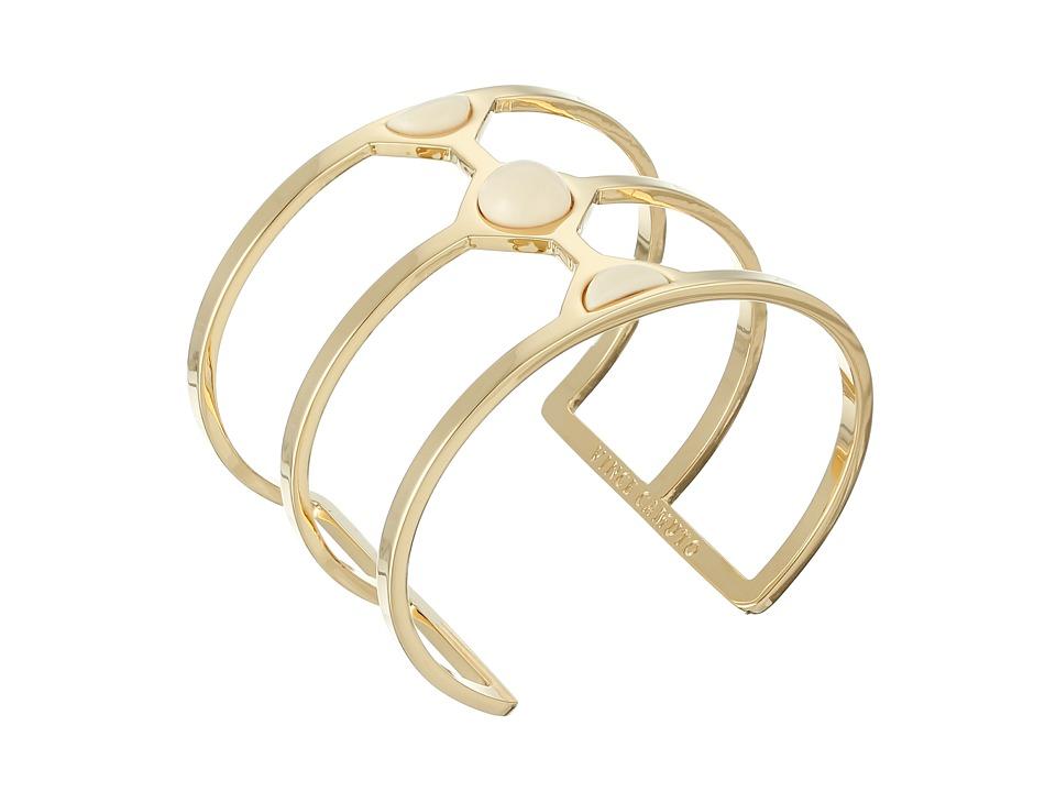 Vince Camuto Milky Resin Cut Out Cuff Bracelet Gold/Ivory Bracelet