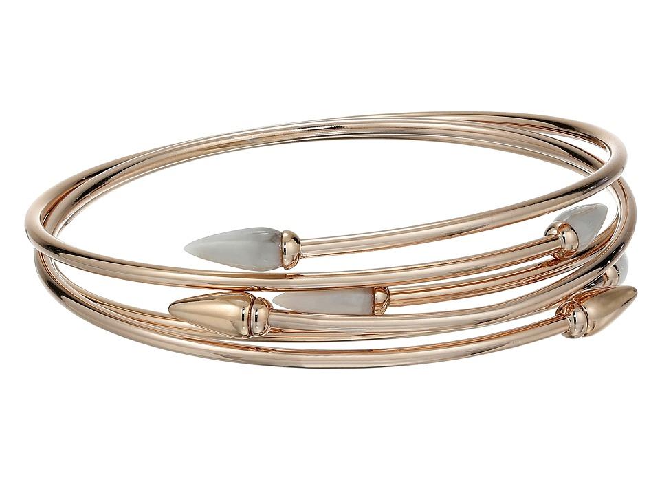 Vince Camuto Sculptural Flex Bracelet Burnt Rose Gold/White Swirl Bracelet