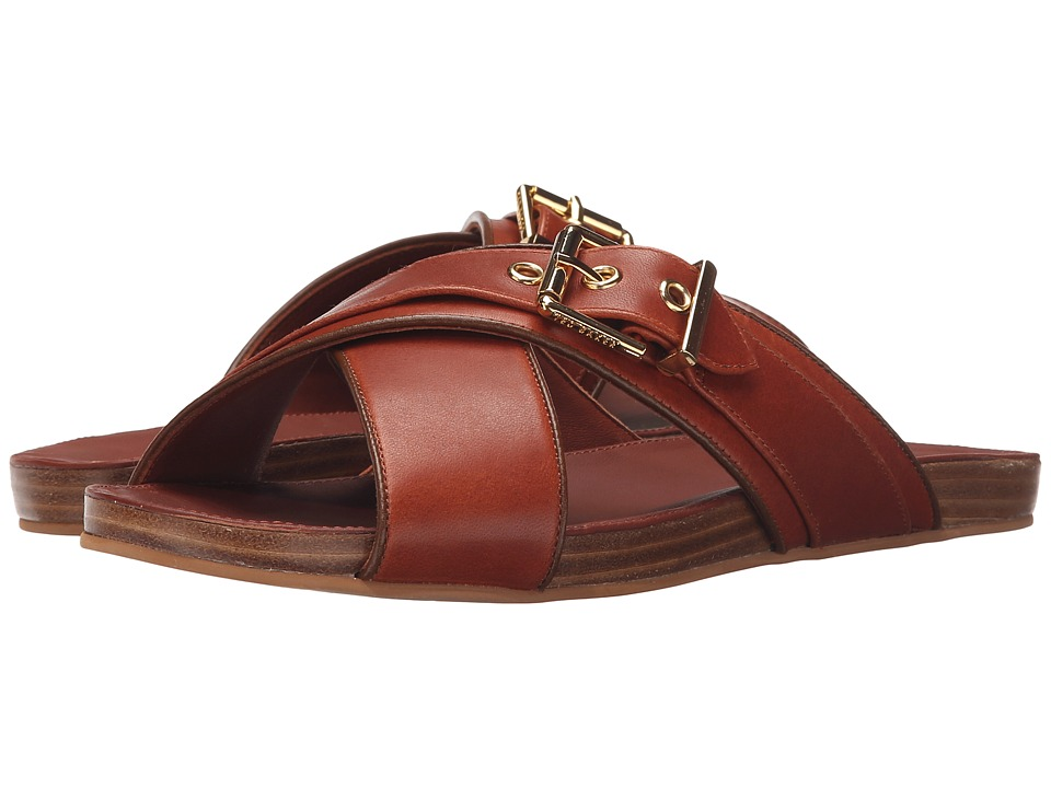 Ted Baker Lapham Tan Leather Womens Sandals