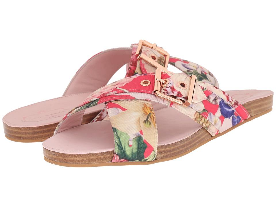 Ted Baker Lapham Encyclopaedia Floral Textile Womens Sandals
