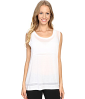 Zobha - Sleeveless Muscle Tee w/ Sheer Panels