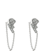 Vince Camuto - Linear Cluster Stones & Chain Stud Earrings
