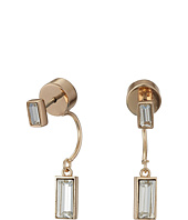 Vince Camuto - Pave Crystal Baguette Front Back Earrings