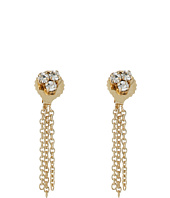 Vince Camuto - Tri Cluster Stones & Chain Stud Earrings