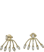 Vince Camuto - Crystal Baguettes Front Back Earrings