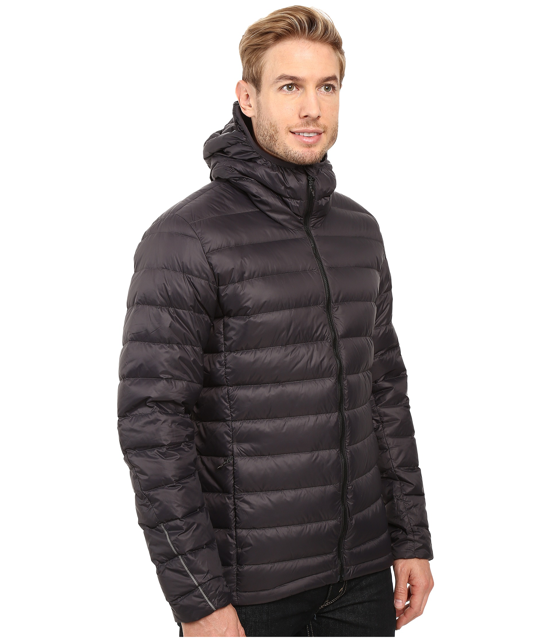 Down hooded jacket utility black zappos com free shipping both ways